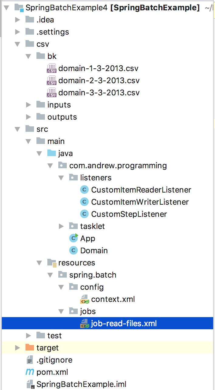 Spring Batch Listener Example – Andrew Programming